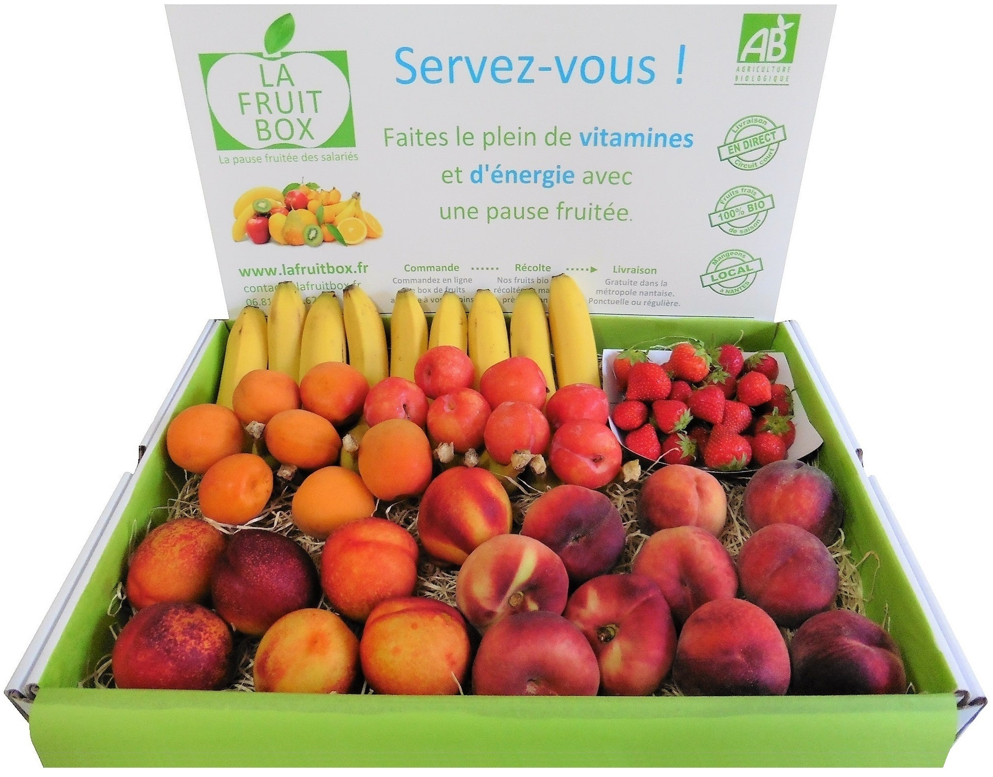 moyenne box 5kg fruits bio locaux lafruitbox nantes